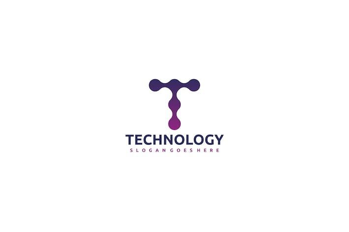Thumbnail for Technology-T Letter Logo