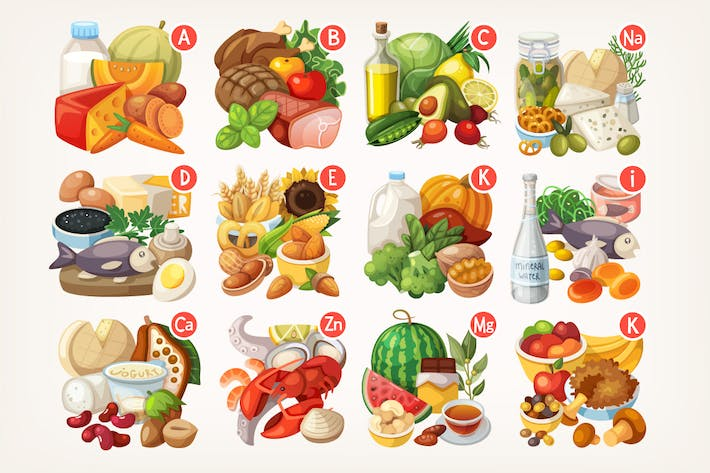 Thumbnail for Vitamins and Minerals in Different Food
