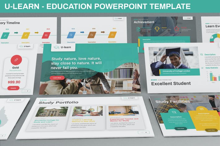 Thumbnail for U-Learn - Education Powerpoint Template