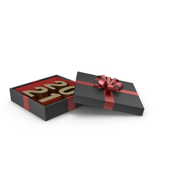 Thumbnail for Gold Symbol 2021 in Black Gift Box with Red Ribbon