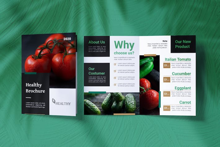 Thumbnail for Healthy Food Bifold Brochure
