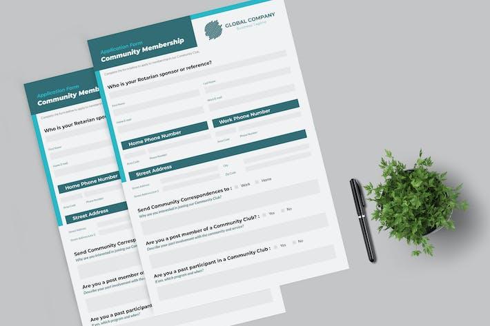 Thumbnail for Community Membership Form