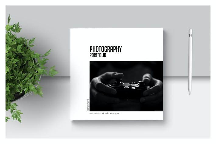 Thumbnail for PSD Square photography Portfolio Template