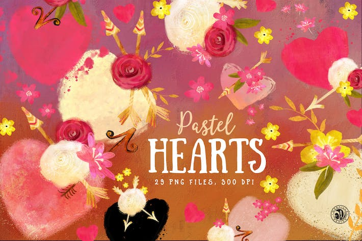 Thumbnail for Pastel Hearts