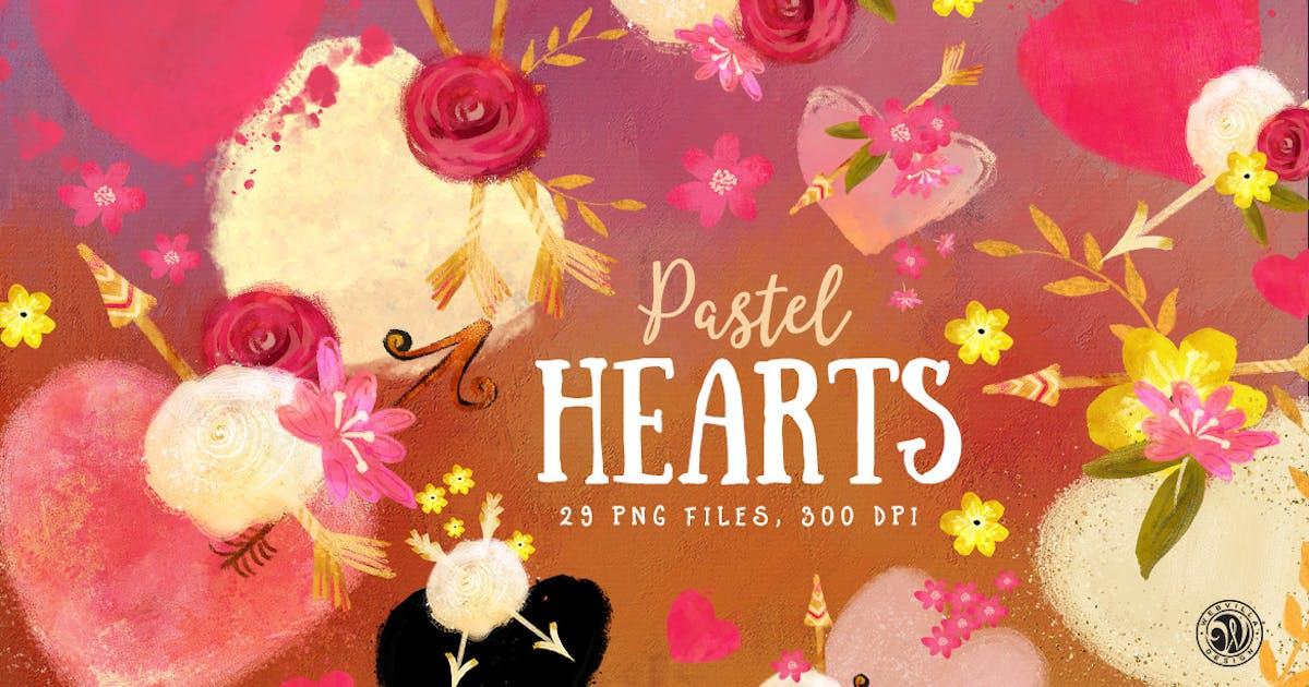 Download Pastel Hearts by Webvilla