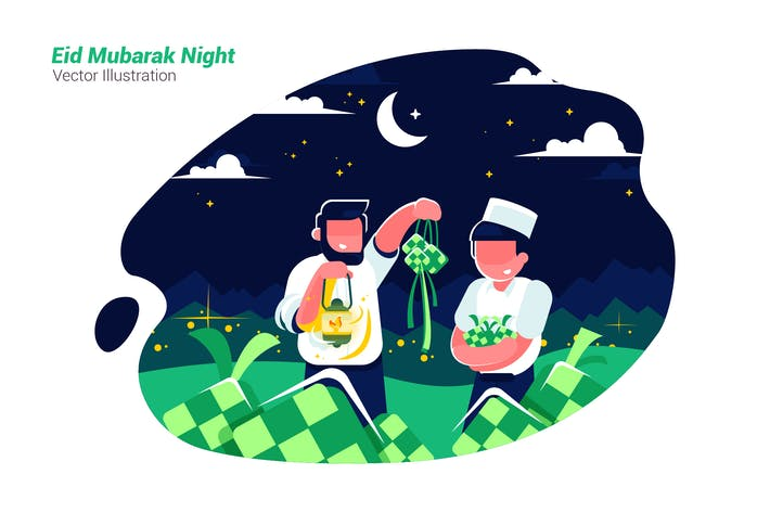 Thumbnail for Mubarak Night - Vector Illustration