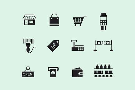 12 Supermarket Icons