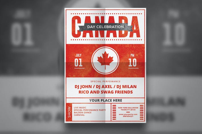 Cover Image For Canada Day Flyer