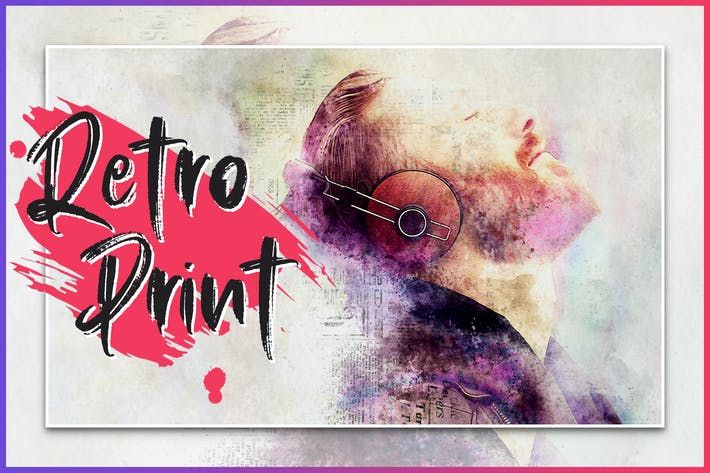 Thumbnail for Retro Print CS4+ Photoshop Action