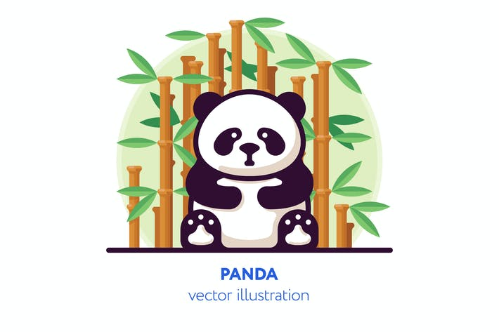 Cover Image For Panda vector illustration