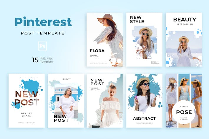 Thumbnail for Beauty Pinterest Templates