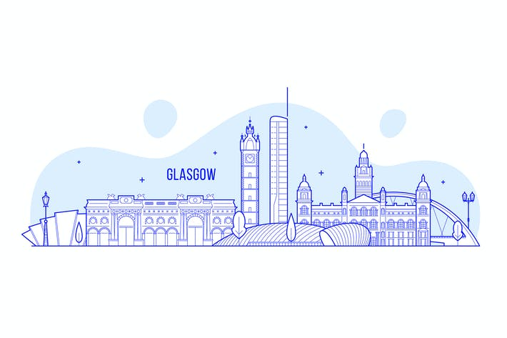Thumbnail for Glasgow skyline, Scotland, UK