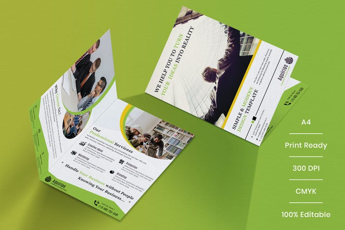 Thumbnail for Business Brochure Bifold Template-02