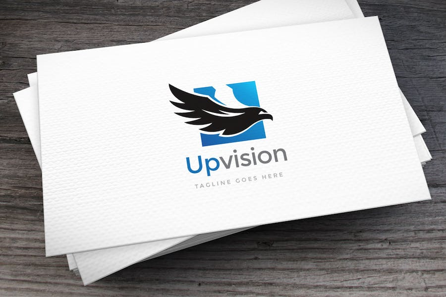 Upvision Logo Template