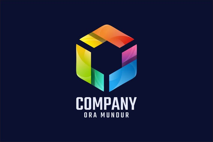 Colorful Polygon Logo Design