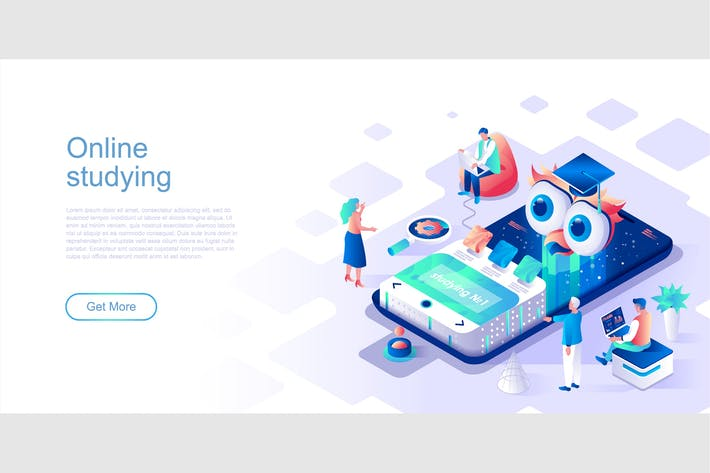 Thumbnail for Online Studying Isometric Flat Concept Header