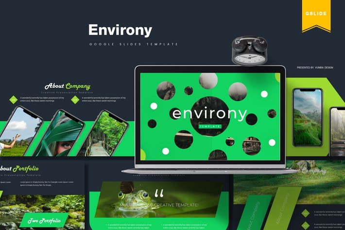 Thumbnail for Environy | Google Slides Template