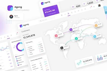 Ageng - Modern Big Data Visualization Template