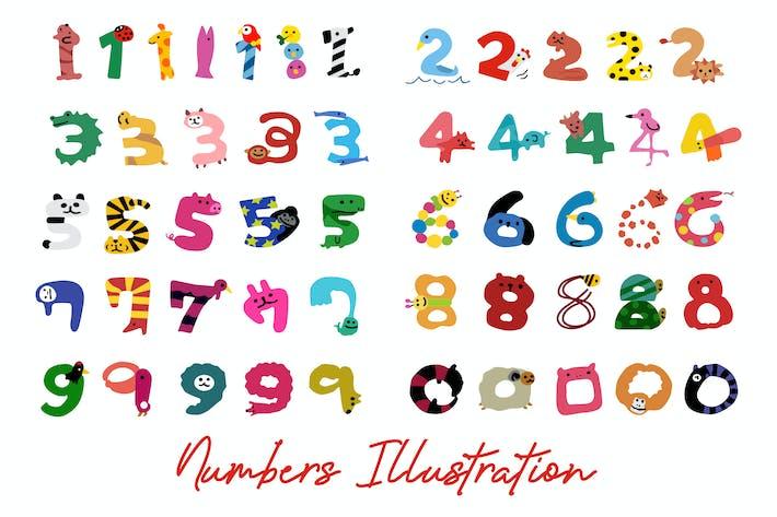 Numbers Illustration