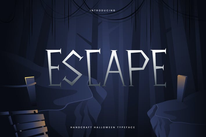 Thumbnail for Escape - Hand Drawn Decorative Halloween Typeface