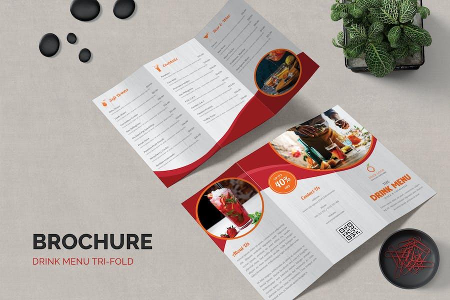 Drink Trifold Brochure