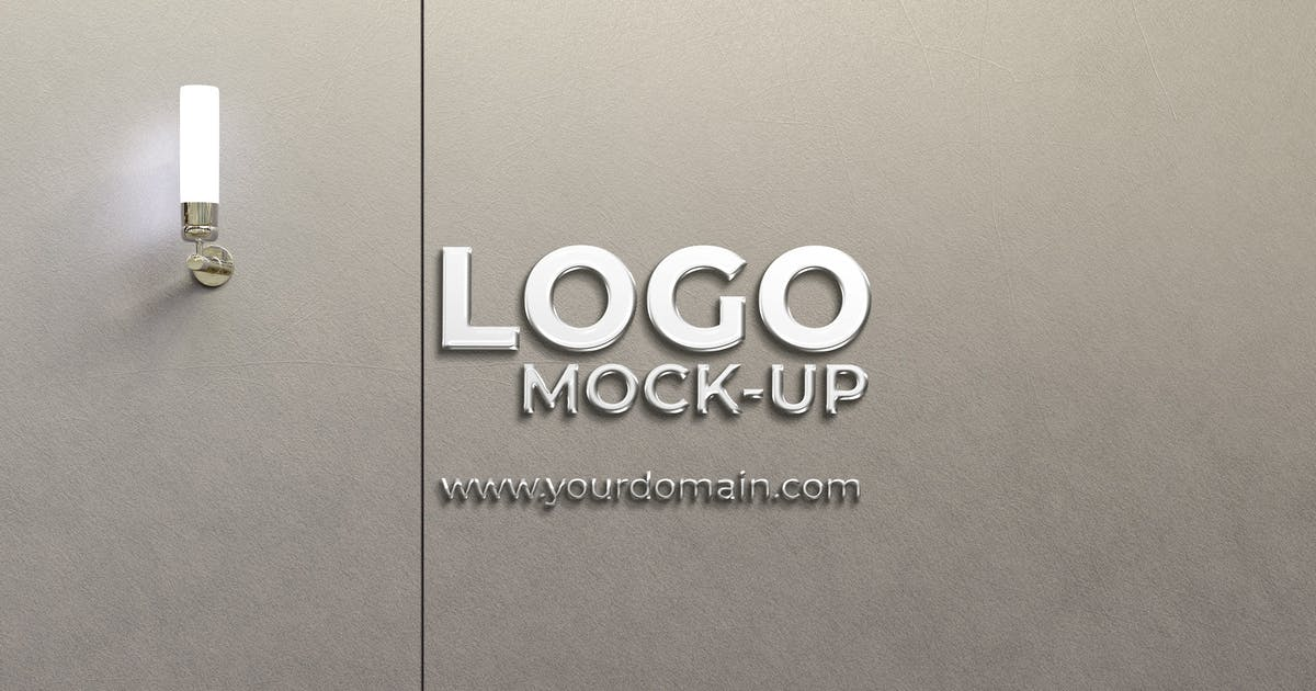 Download Wall Logo Mockup by graphiccrew
