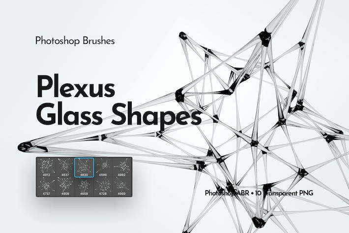 Thumbnail for Plexus Glass Shapes Photoshop Brushes