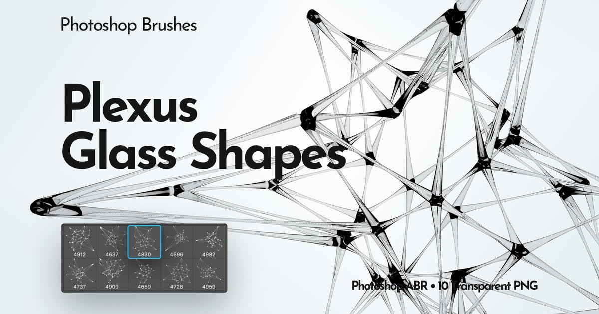 Download Plexus Glass Shapes Photoshop Brushes by themefire