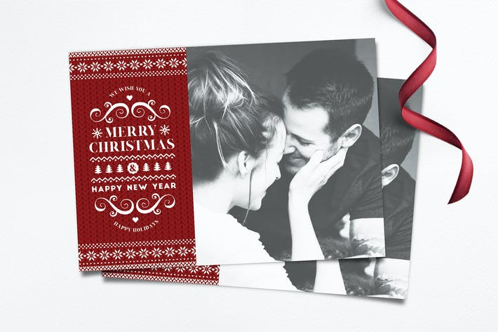 Thumbnail for Christmas Photo Card Template