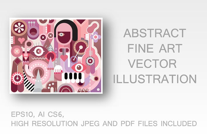 Thumbnail for Musician abstract fine art vector illustration