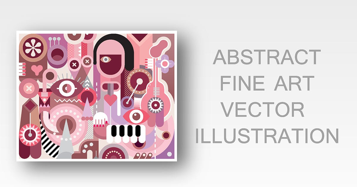 Download Musician abstract fine art vector illustration by danjazzia