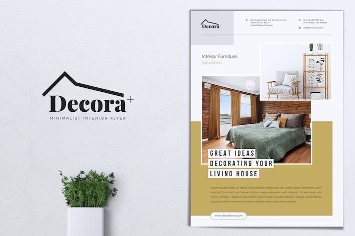 Cover Image For DECORA Minimal Interior Flyer
