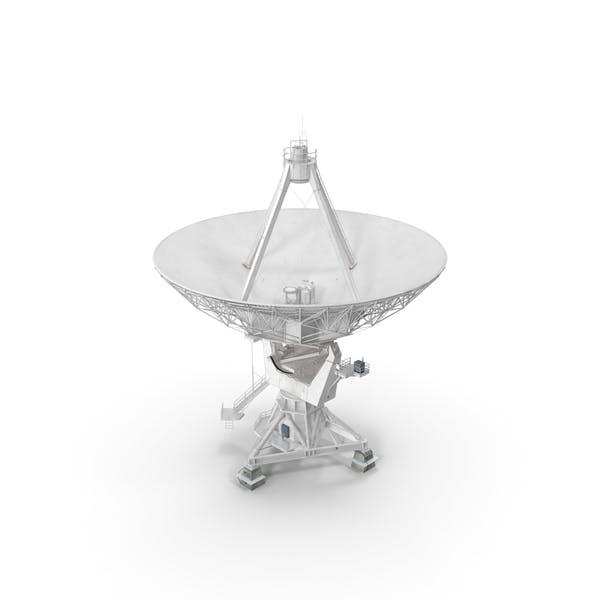 Große parabolische Satellitenschüssel