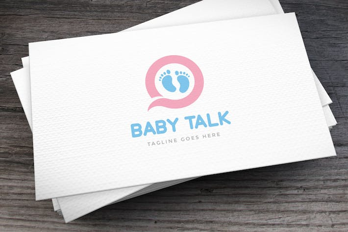 Thumbnail for Baby Talk Logo Template