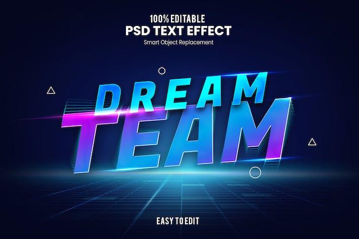 Dream Team - Текстовый эффект PSD