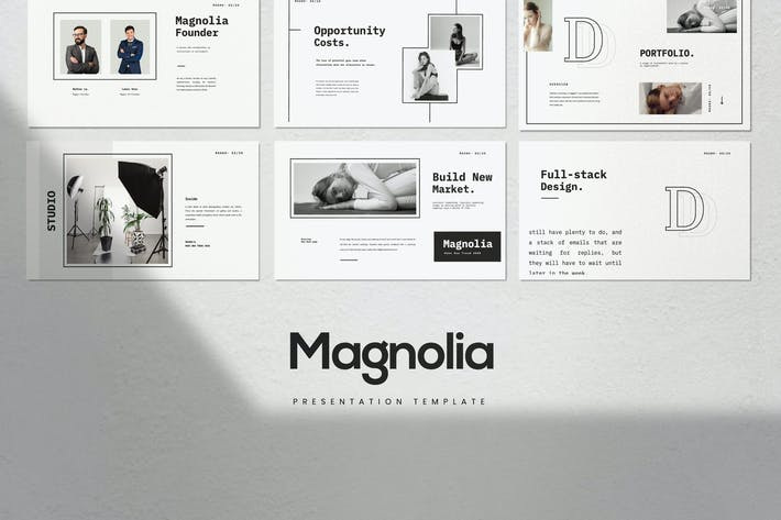 Cover Image For Magnolia - Business Marketing Powerpoint