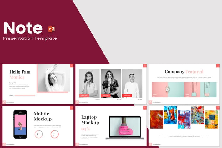 Cover Image For Note - Powerpoint Template