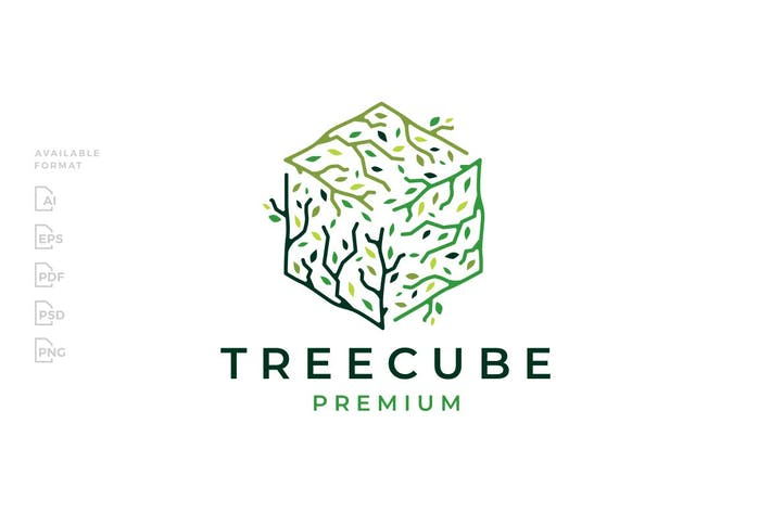 Cube Cubical Tree Branch Logo
