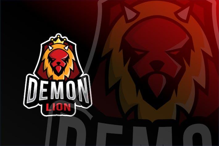 Thumbnail for Demon Lion Esport Logo Template