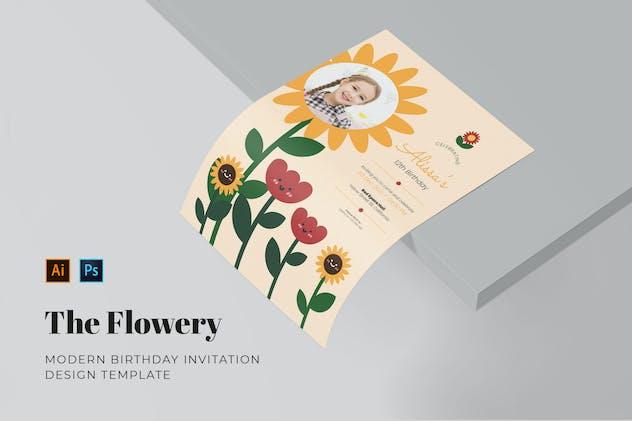Flowery Birthday Invitation