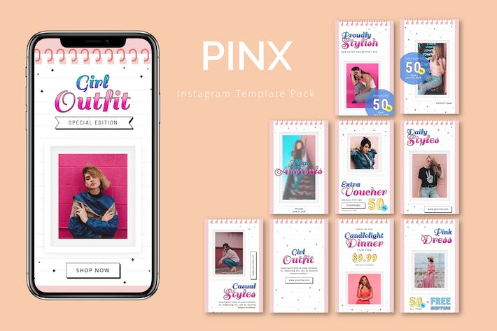 Thumbnail for Pinx - Instagram Template Pack