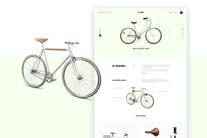 Thumbnail for Ne25 - bike store landing page template