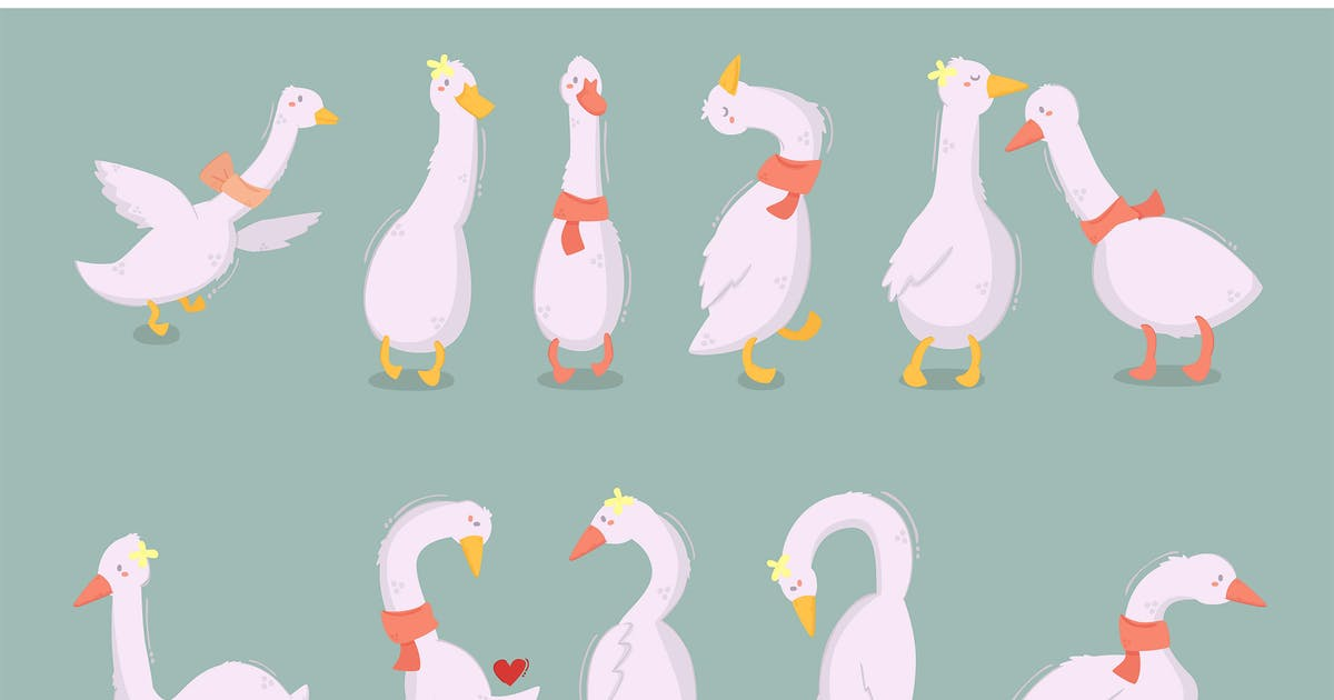 Download Cartoon Duck Character Illustration by april_arts