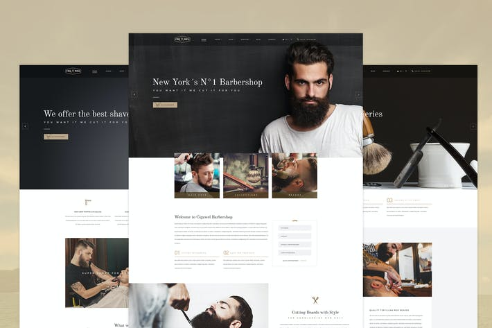 Thumbnail for Cigawel - Barbershop PSD Template