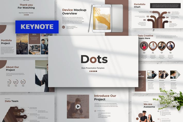 Thumbnail for Dots Keynote Presentation Template