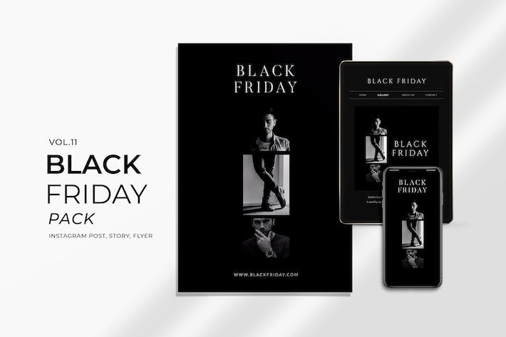 Thumbnail for Black Friday Promotion Flyer and Instagram Vol. 11