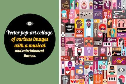 New Pop-art Vector Collage