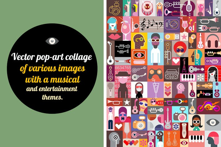 Thumbnail for New Pop-art Vector Collage