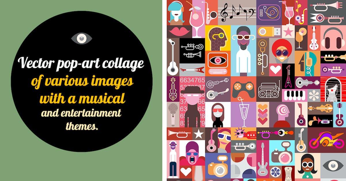 Download New Pop-art Vector Collage by danjazzia