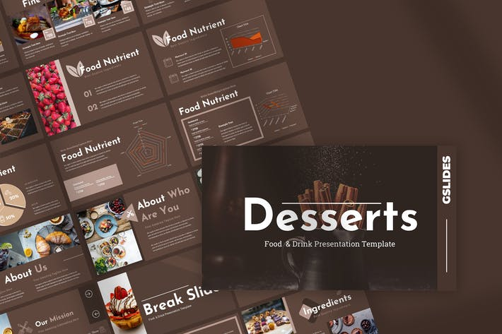 Thumbnail for Desserts - Restaurant Google Slides Presentation